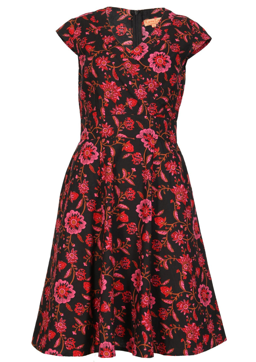 Alice Dress Raspberry Swirl
