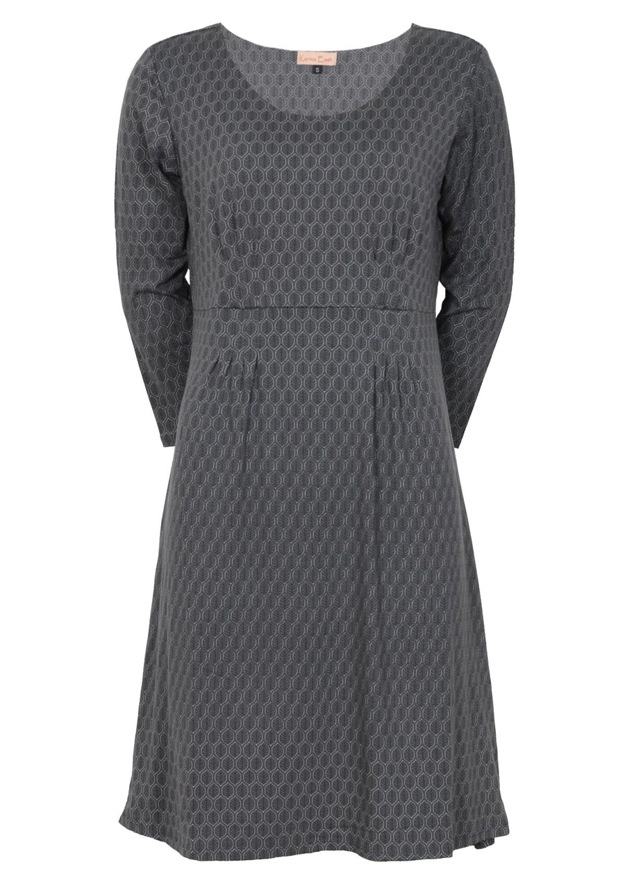 Pippa Dress Leaf Grey