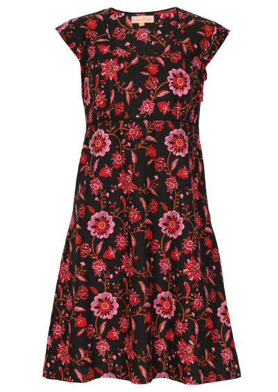 Freya Dress Raspberry Swirl