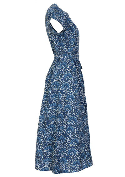 Vivien Dress Blue Lotus