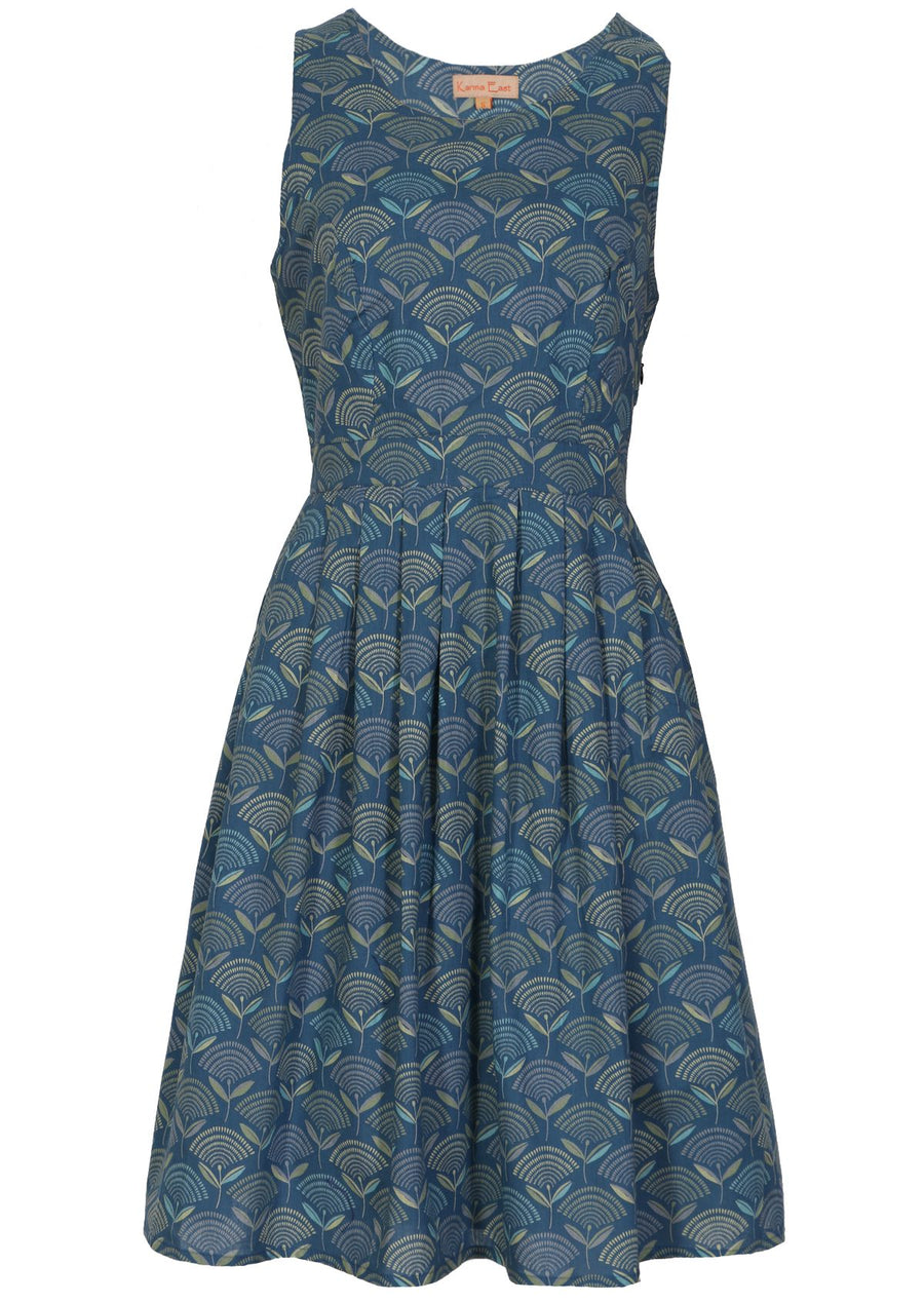 Dorothy Dress Fan Flower Blue