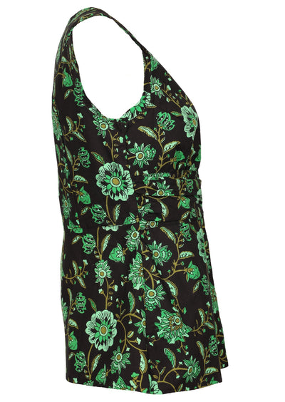 Hanna Top Lime Swirls