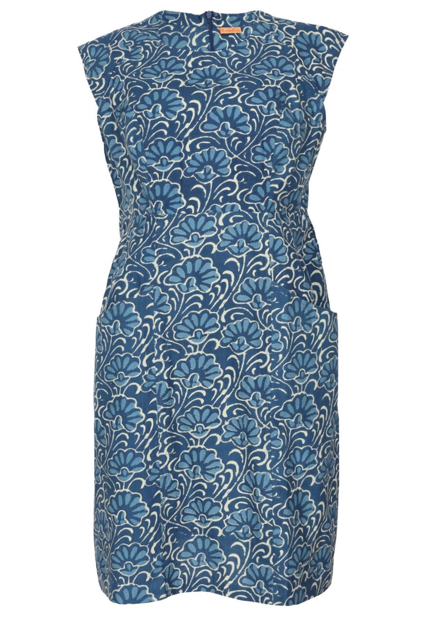 Kari Dress Blue Lotus