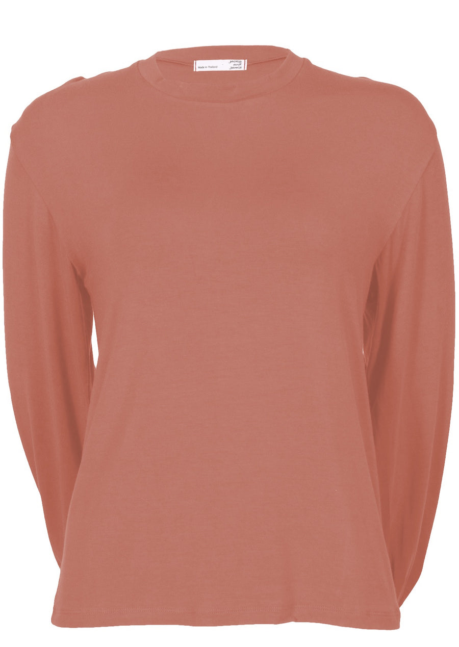 Lantern Sleeve Top Salmon
