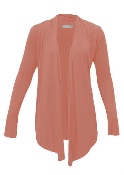 Long Sleeve Stretch Cardi Salmon