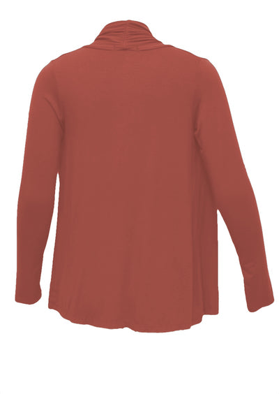 Long Sleeve Stretch Cardi Terracotta