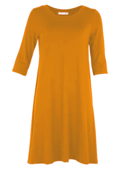 Half Sleeve Jersey Dress Warm Tones