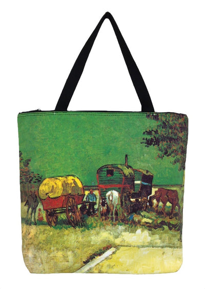 Art Print Bag Van Gogh Wagons