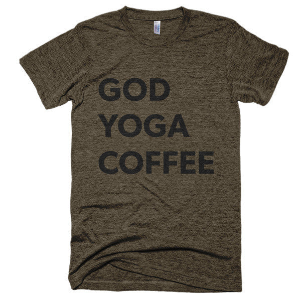 God Yoga Coffee Short sleeve soft t-shirt