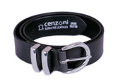 Double Metal Loop Leather Belt - BOP1.75M ash-cenzoni.myshopify.com