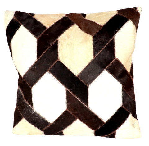 Hairon Leather Cushion Cover Diamond - CUHA018D1 ash-cenzoni.myshopify.com