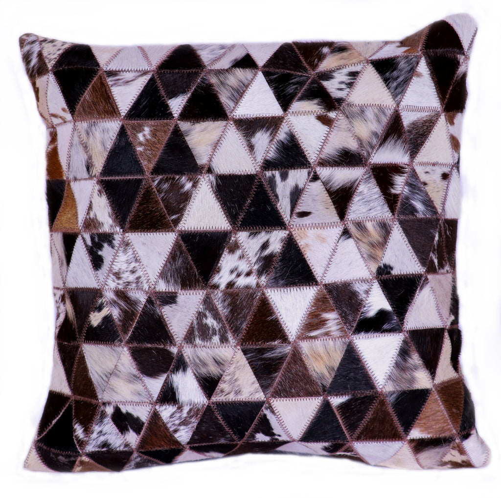 Hairon Leather Cushion Cover - Pyramid - CUHA018PY1 ash-cenzoni.myshopify.com