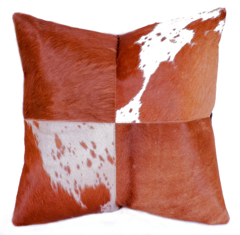 Hairon Leather Cushion Cover - SQUARE 4 -CUHA018SQ2 ash-cenzoni.myshopify.com