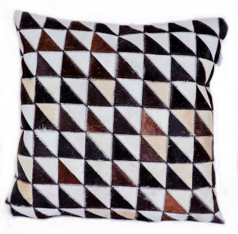 Hairon Leather Cushion Cover - Half Triangle - CUHA018TR2 ash-cenzoni.myshopify.com