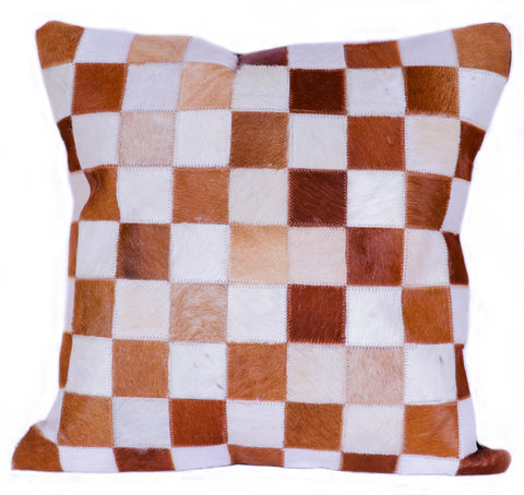 Hairon Leather Cushion Cover - SQUARE - CUHA018SQ1 ash-cenzoni.myshopify.com