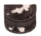 Black-White Leather Coin Purse - HF01