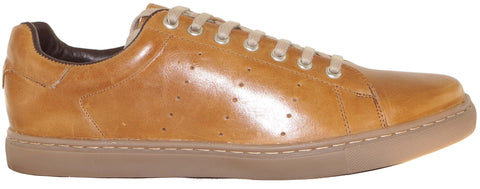 Cow Crunchy Tan ~ Leather Men's shoes ~SCH14