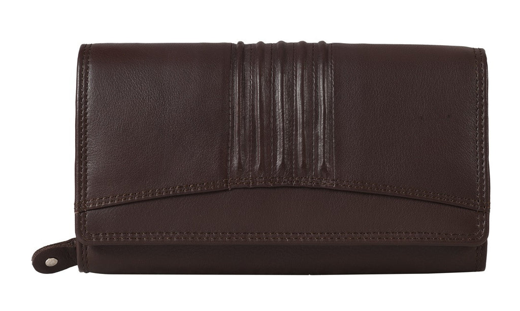 ZLW001A | Long Plain Leather Wallet