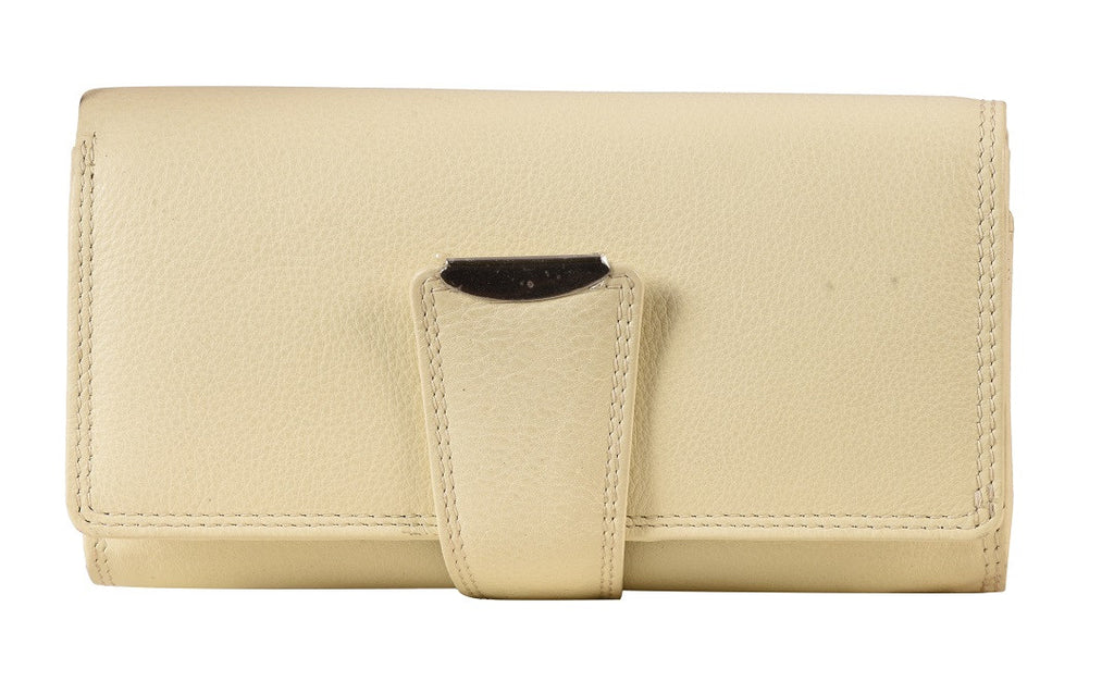 ZLW202B | Leather Long Plain Wallet ash-cenzoni.myshopify.com
