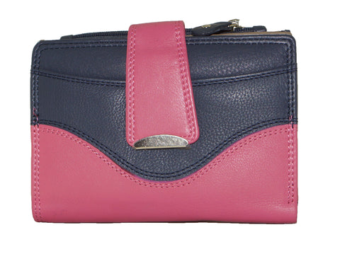 Funky Multi-colour Ladies Leather Wallet - ZMX09