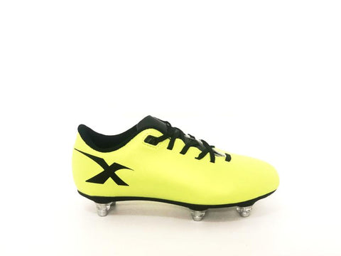 XBlades Young Micro Flash Volt/Black 6 Stud Rugby Boot