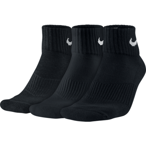 Nike 3 Pack Cushion Quarter Unisex Sock