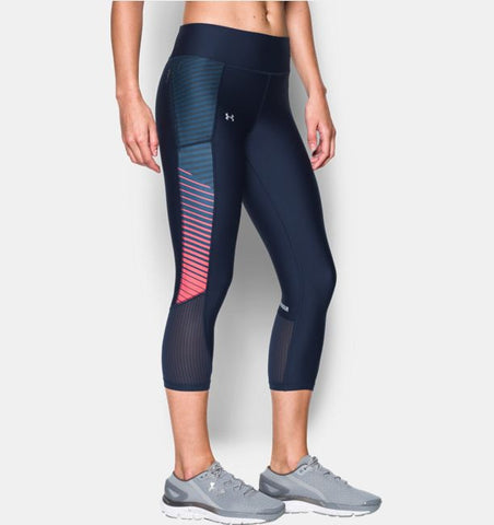 Under Armour Womens Fly By Printed Capri