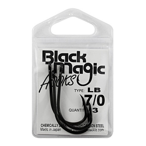 Black Magic LB Series Fishing Hook Pack 7/0