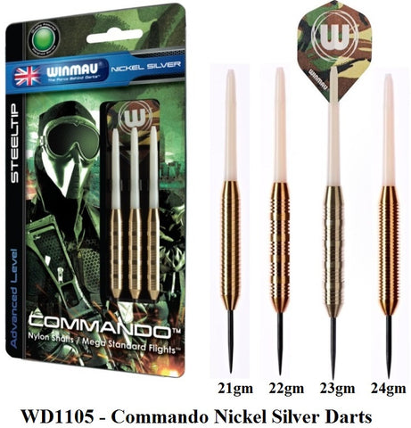 Winmau Commando Nickel Steel Tip Darts