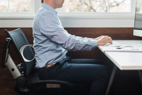 Plexus Micro Wheel gives support for better posture at work. It's great for exercises for better posture too.