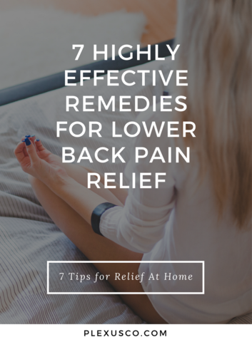 lower back pain relief at home