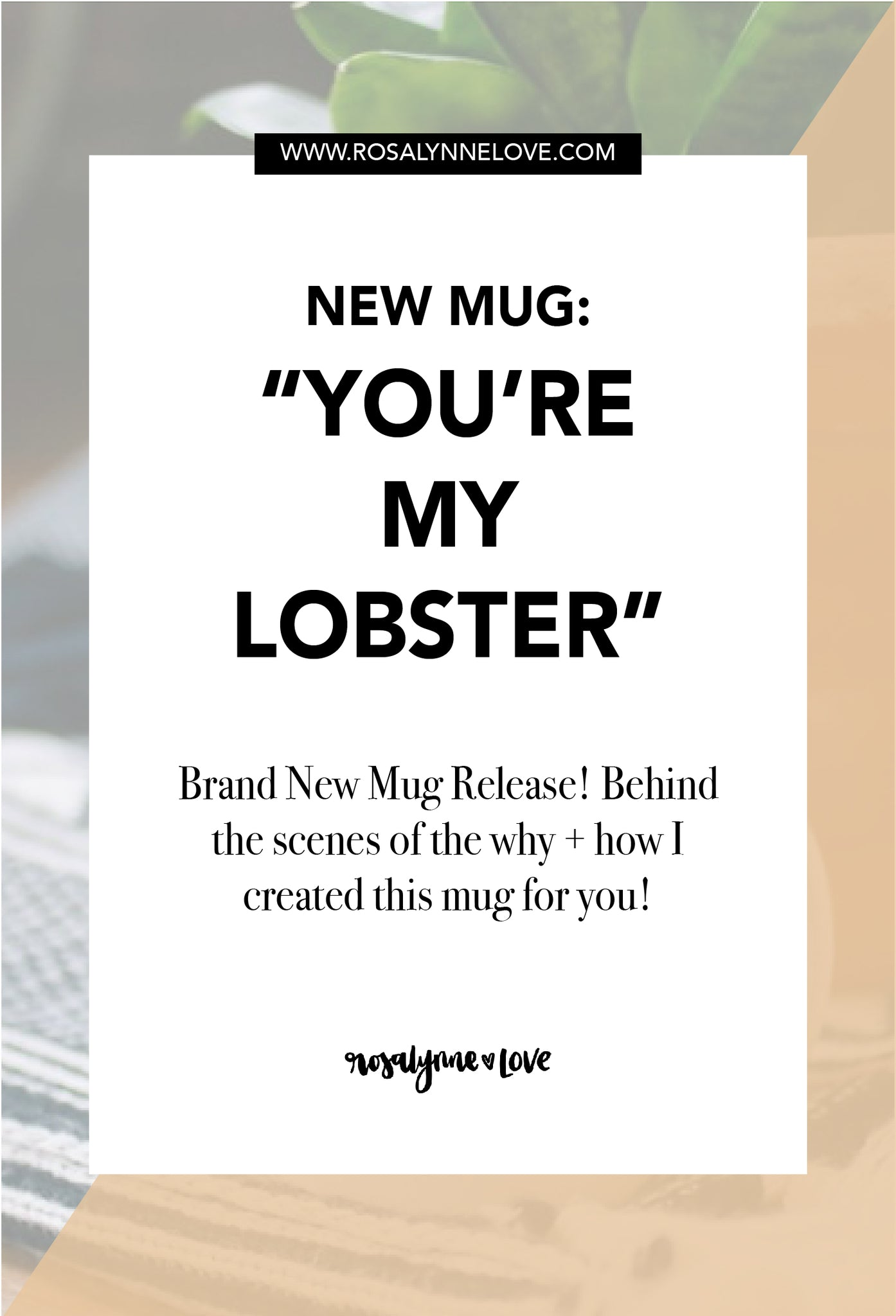 "New Mug Release: ""He's Her Lobster"" 