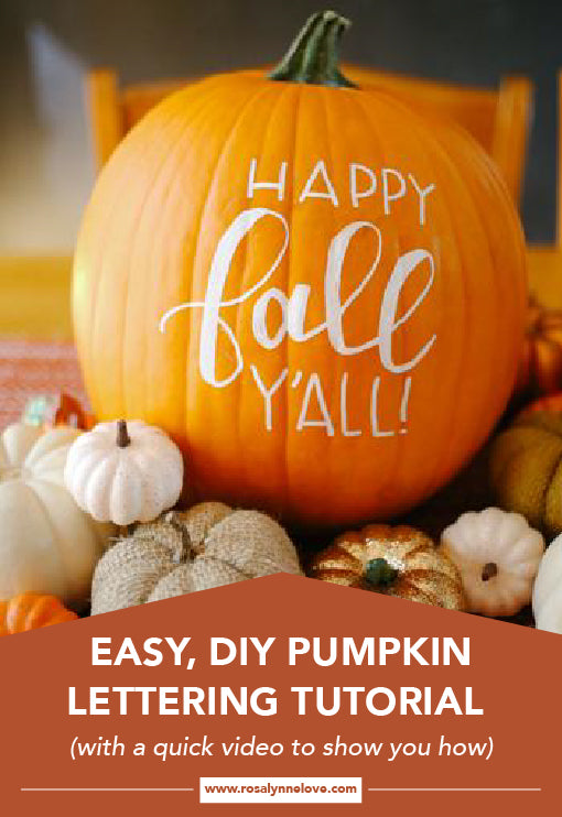 Easy, DIY Pumpkin Lettering Tutorial