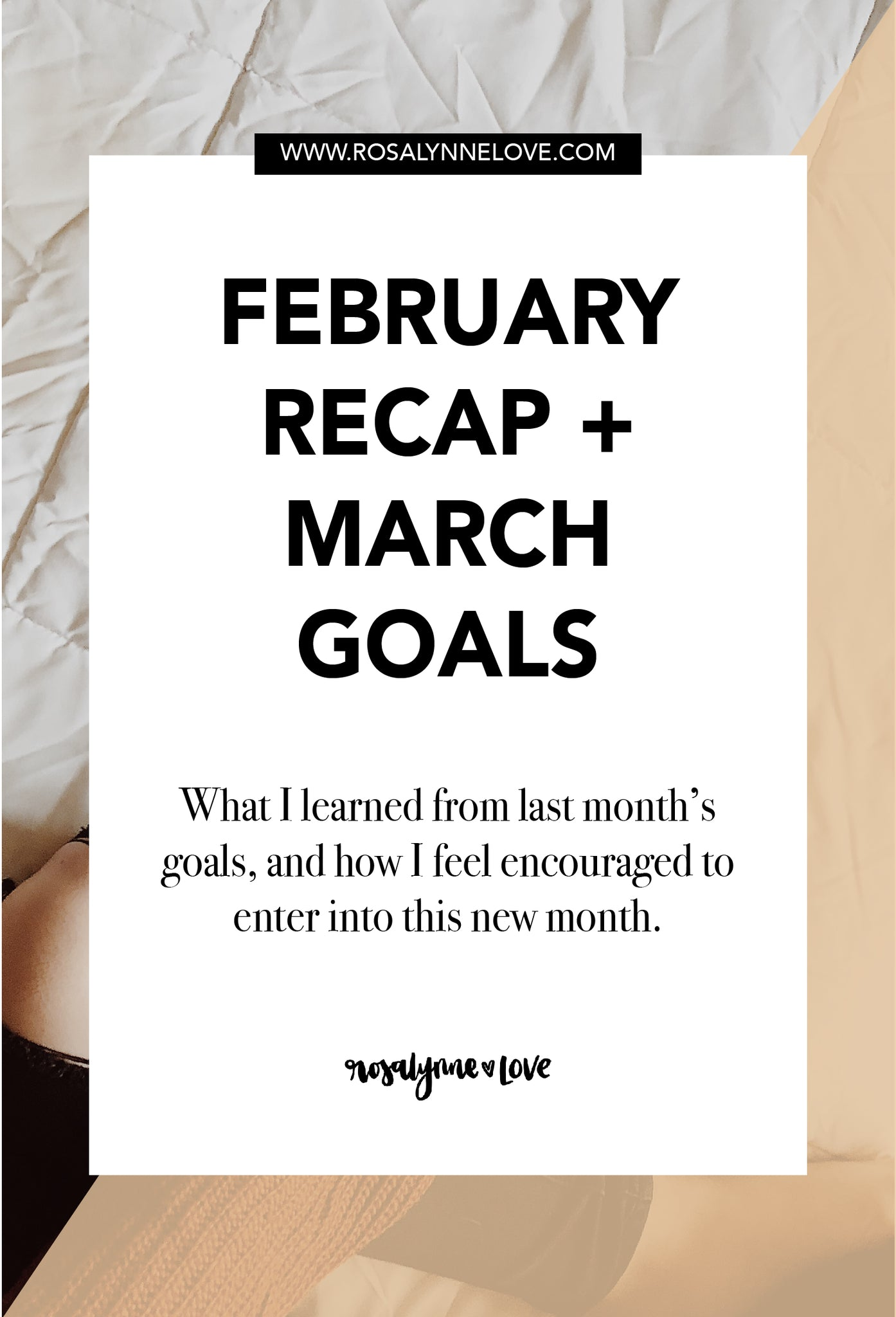 February Recap + March Goals