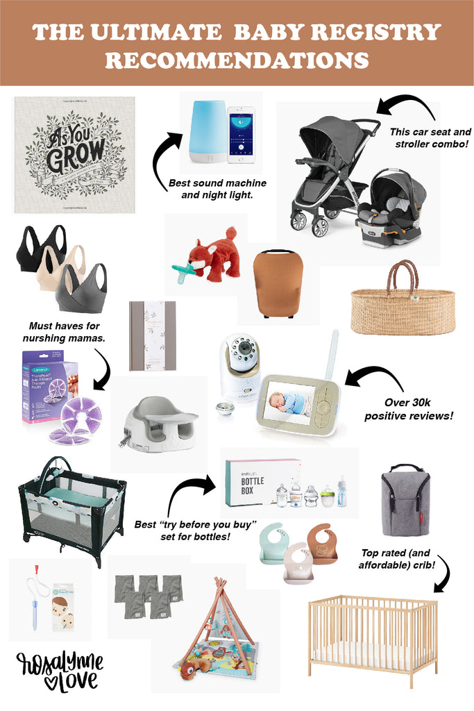 Ultimate List of Baby Registry Must-Haves + Recommendations