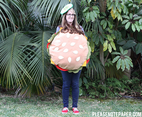 DIY Burger Costume