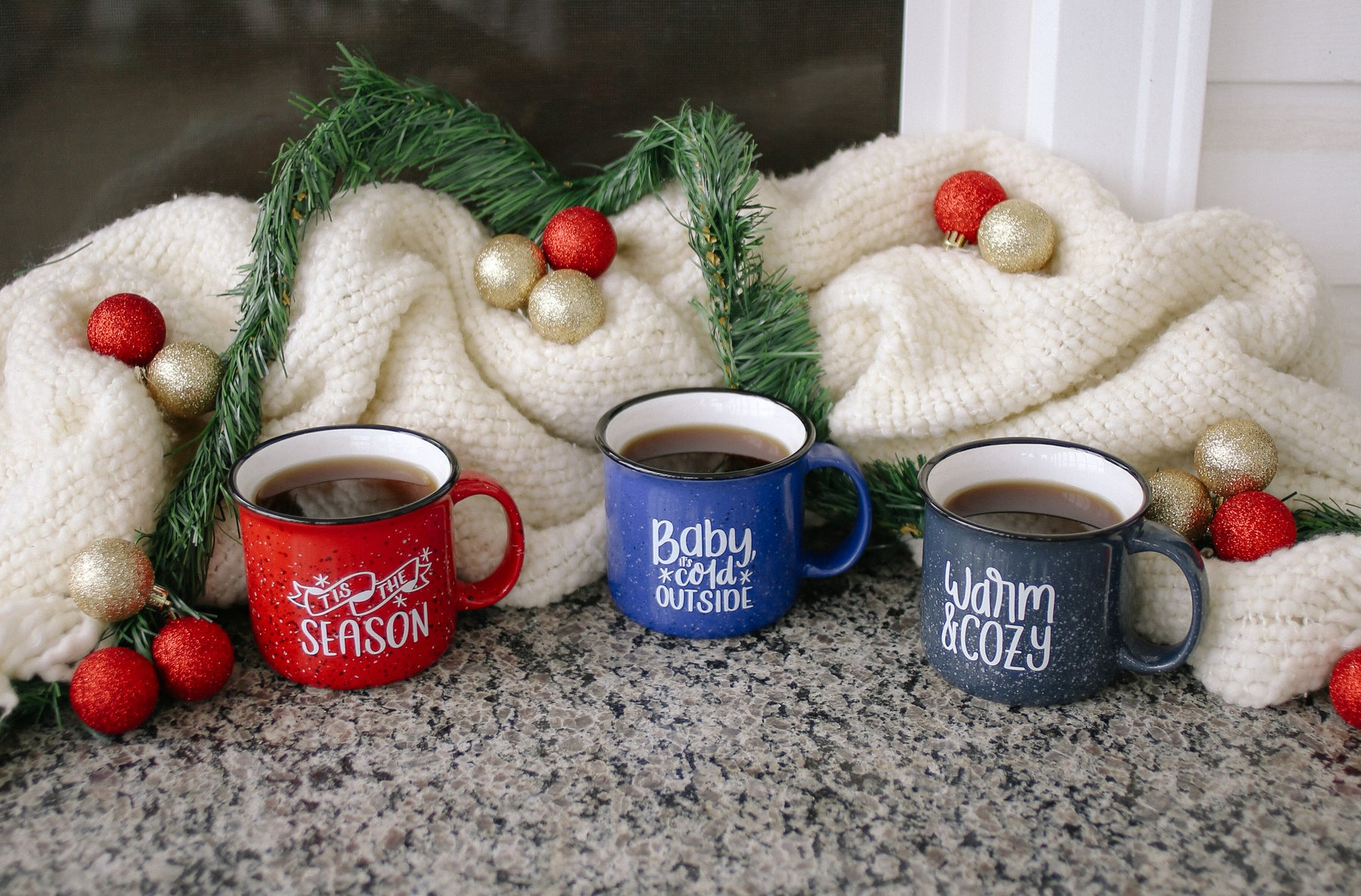 Holiday Campfire Mugs | Baby Its Cold Outside | Tis The Season | Warm & Cozy