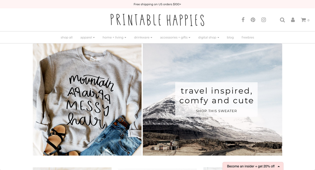 Printable Happies | Product Shop | Shop Small