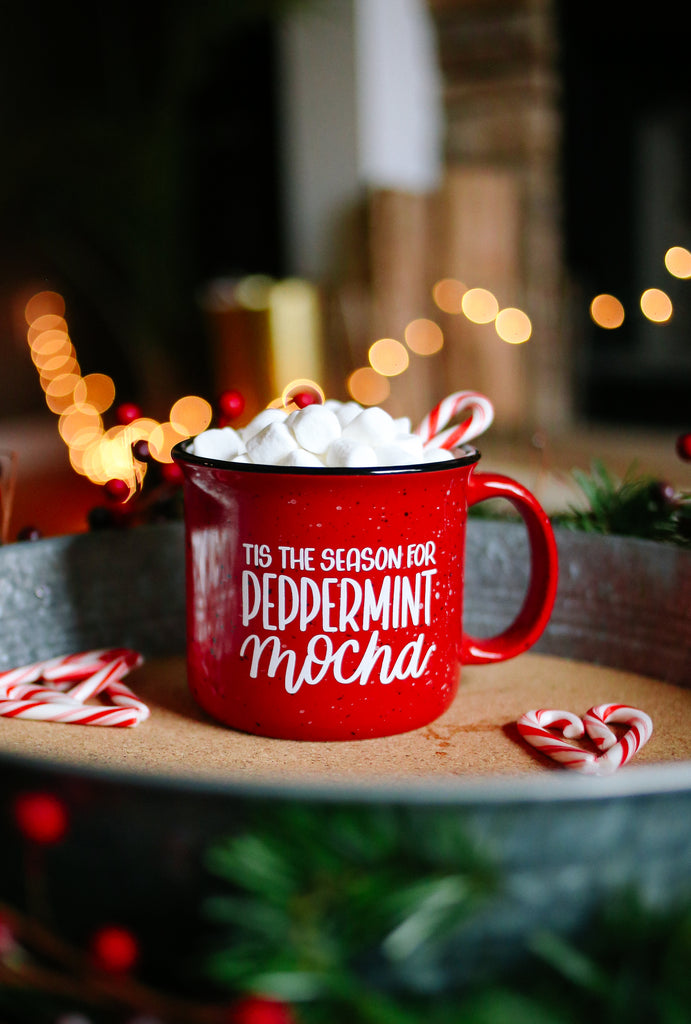 Tis The Season For Peppermint Mocha | Mug - Rosalynne Love