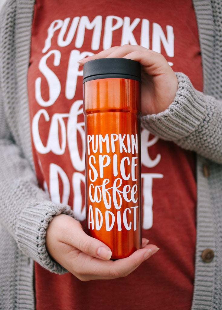 Pumpkin Spice Coffee Addict | Tumbler - Rosalynne Love