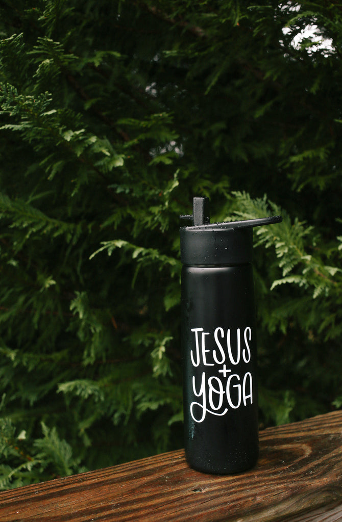 Jesus & Yoga | Water Bottle - Rosalynne Love