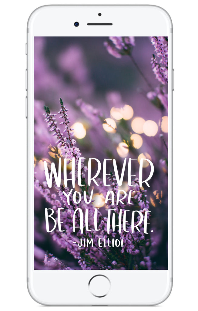 """Wherever You Are"" // Phone Background - Rosalynne Love"