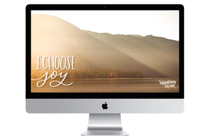 """Choose Joy"" // Free Desktop Background - Rosalynne Love"