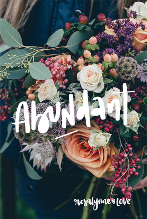 """Abundant"" // Phone Background - Rosalynne Love"