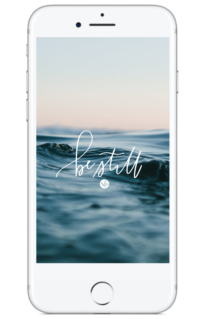 """Be Still"" // Free Phone Background - Rosalynne Love"