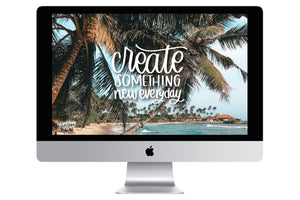 """Create Something New"" // Free Desktop Background - Rosalynne Love"