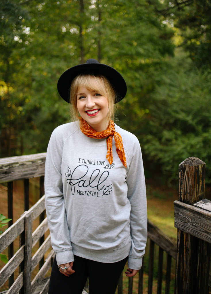 I Think I Love Fall Most Of All | Long Sleeve - Rosalynne Love