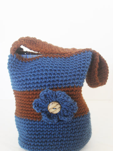 Blue and Brown Boho Bag