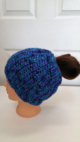 Custom Ponytail Messy bun Hat