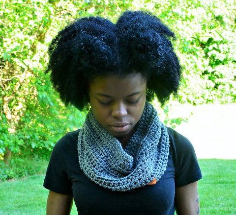 Gray Phenomenal Woman Scarf